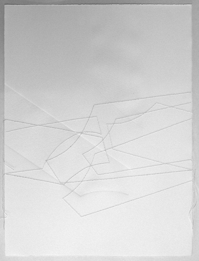 zonas en diálogo 20/14.3 | dibujo costura / intaglio | 38 x 28 cm | 2014