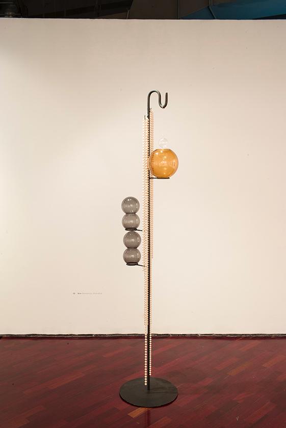 aire (resilencia) | vidrio, plástico, oro  y metal | 2014-2015