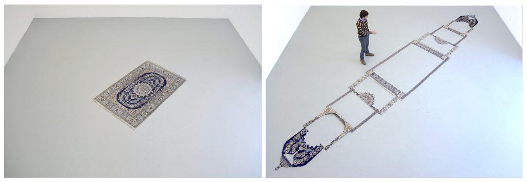 escultura expandida | alfombra seccionada | 160 x 900 cm | 2013