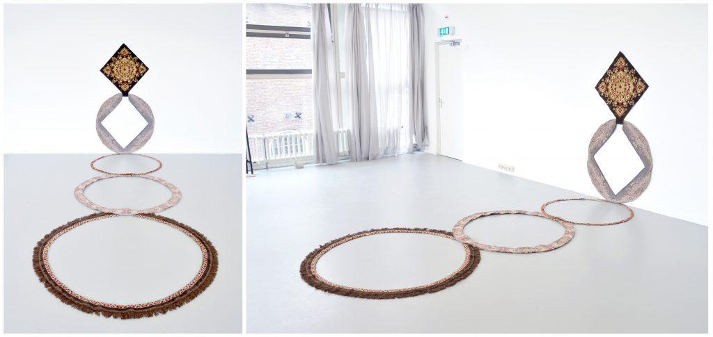el origen de círculo | alfombra seccionada | 100 x 200 x 500 cm | 2013